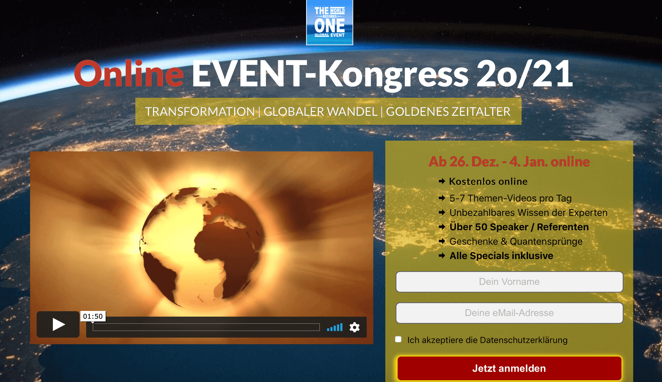 online kongress the world becomes one tiny